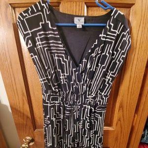 Black/White designed dress